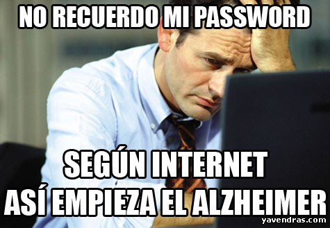 NO RECUERDO MI PASSWORD