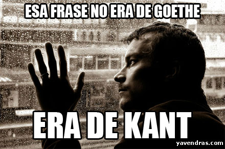 NO ERA DE GOETHE