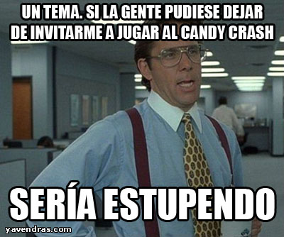INVITACIONES AL CANDY CRUSH